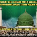 event majelis rasulullah 31 desember 2012